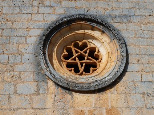 romanesque rose window at the hermitage of saint bartholomew in soria